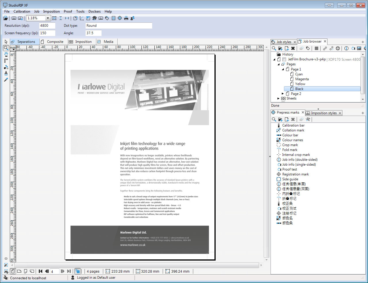 separated view